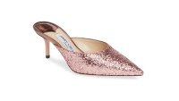 Jimmy Choo Rav Glitter Pointy Toe Mule