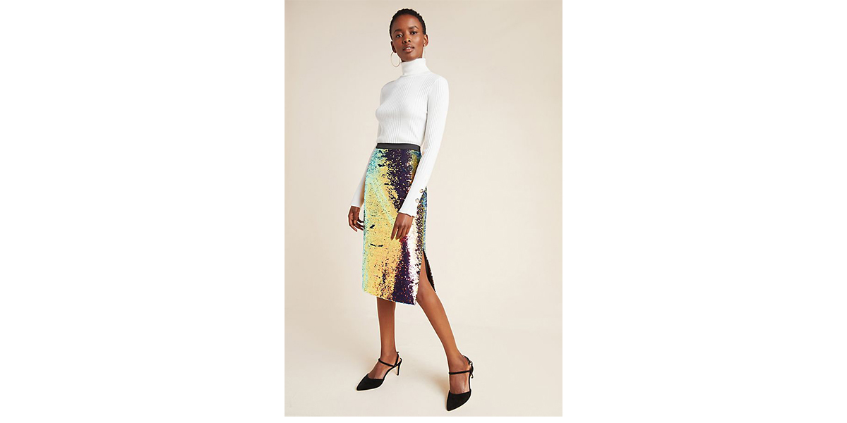 Elysian Sequined Pencil Skirt