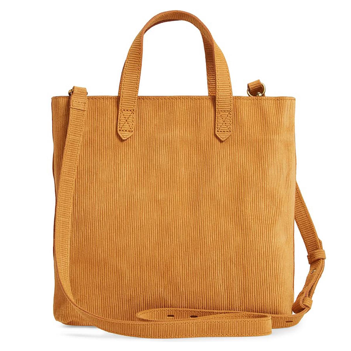 Madewell Zip-Top Transport Corduroy Suede Crossbody Bag