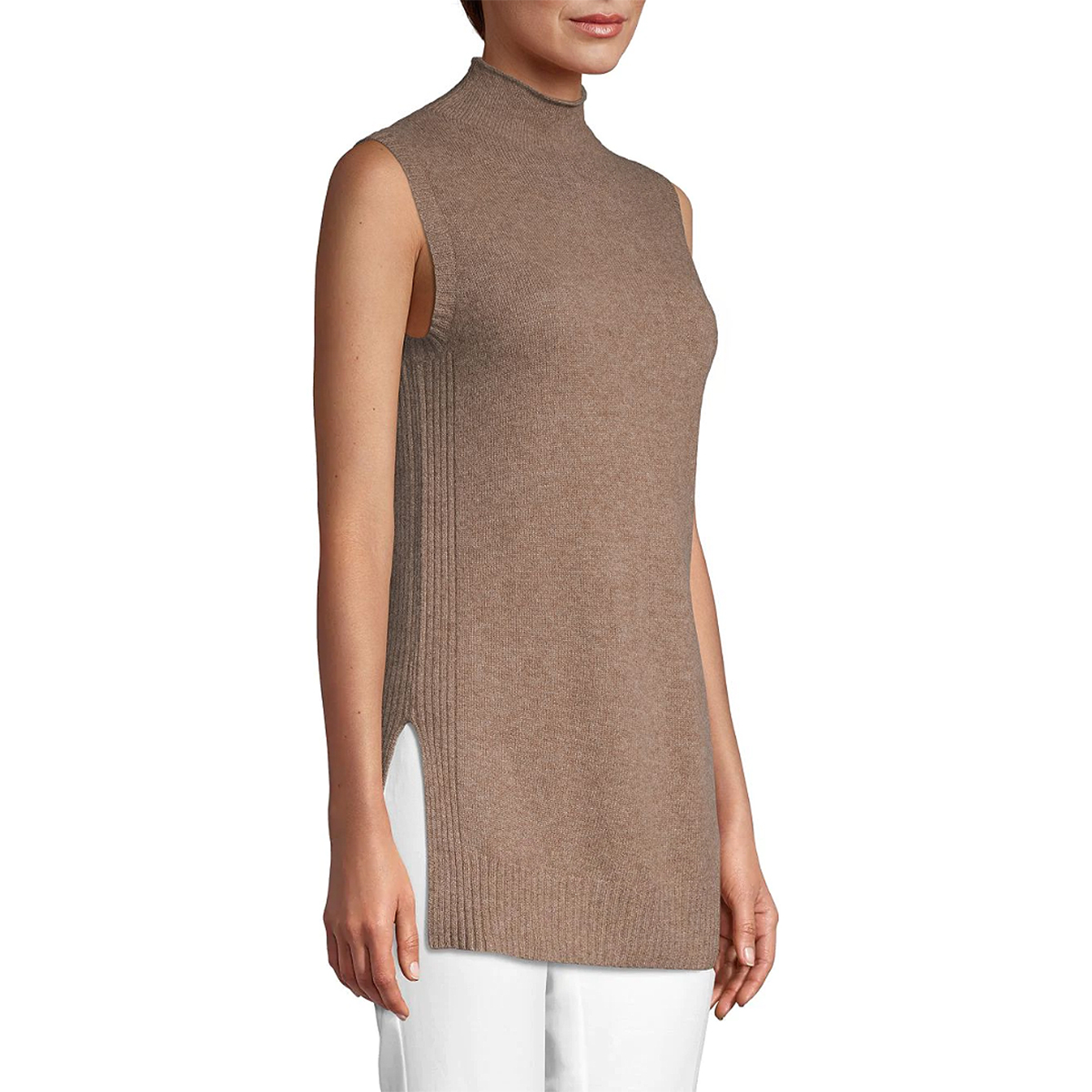 Cashmere Saks Fifth Avenue Turtleneck Cashmere Top
