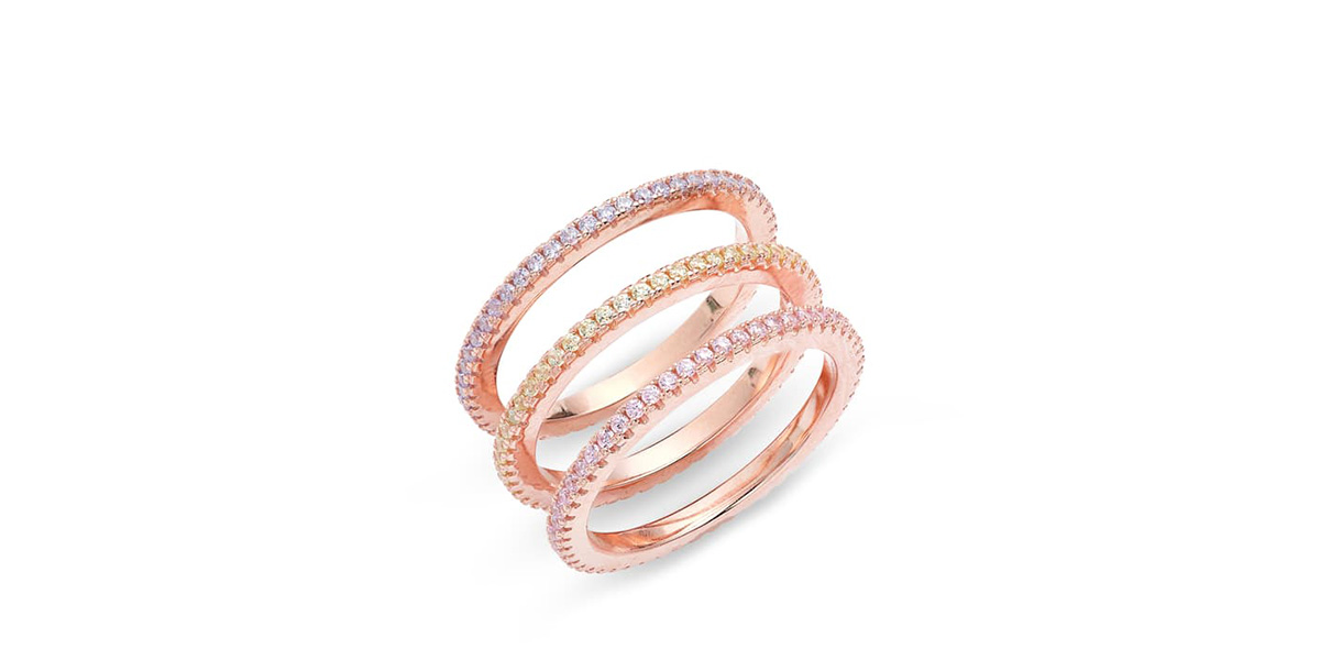 Adina's Jewels Set of 3 Pastel Rings