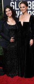 America Ferrera and Natalie Portman America Ferrera Baby Bumps at the Golden Globes