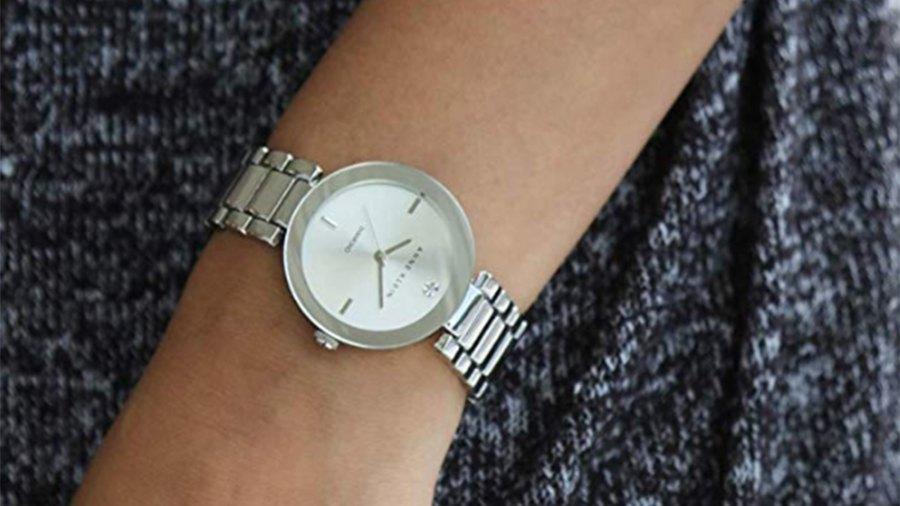 Anne Klein Women's Genuine Diamond Dial Bracelet Watch (Silver)