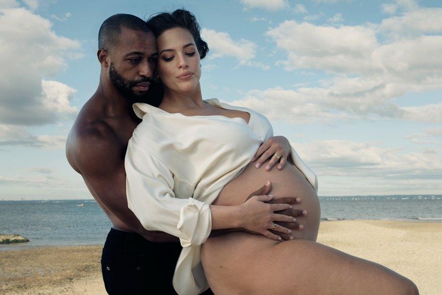 Pregnant Ashley Graham and Justin Ervin for Vogue