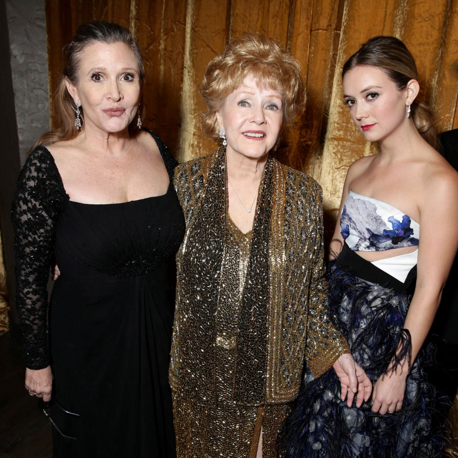 Billie Lourd Posts Emotional Christmas Tribute to Late Mom Carrie Fisher and Grandma Debbie Reynolds