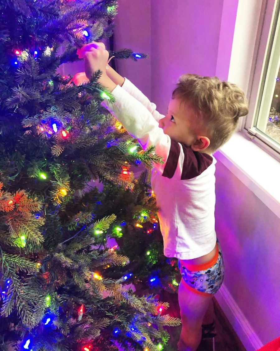 Catherine Giudici and Sean Lowe Celebrity Kids Helping Pick and Decorate Christmas Trees