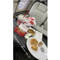 Celebrities Eating on Private Planes