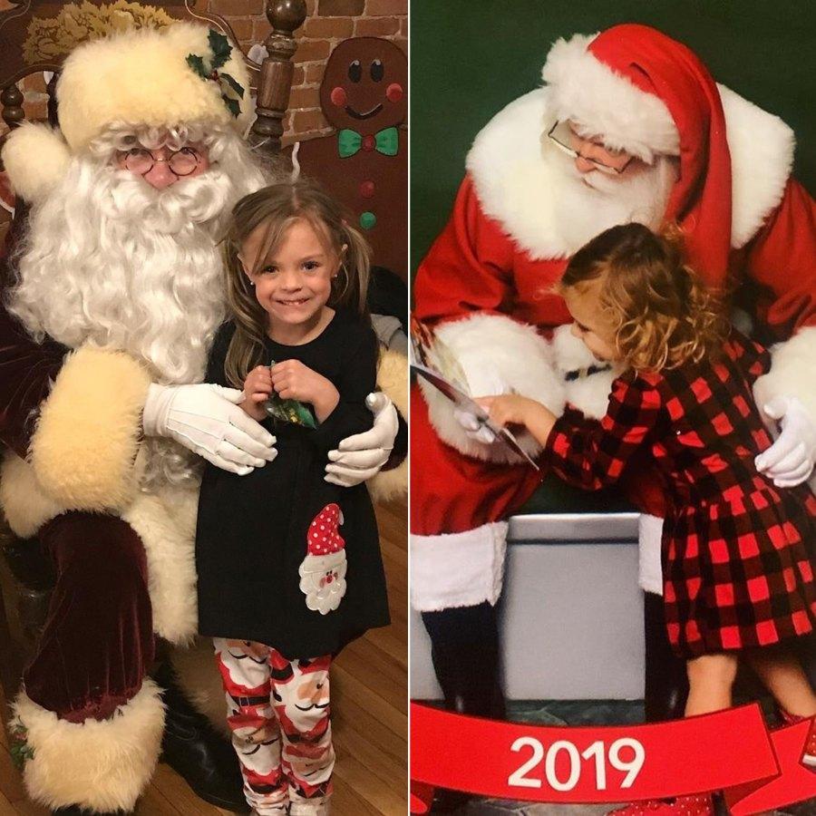 Celebrities Share Kids' Santa Pics
