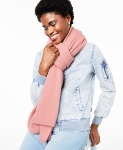 Charter Club Oversized Cashmere Scarf (Bella Rose Heather)