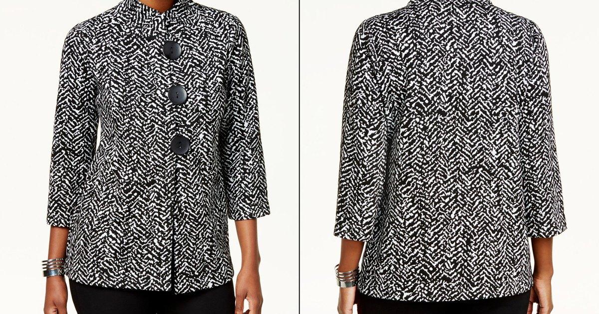 Commerce Split 3 - قم بتجديد ملابس العمل الخاصة بك في Macy's بأكثر من 40٪ من هذه السترة الأنيقة