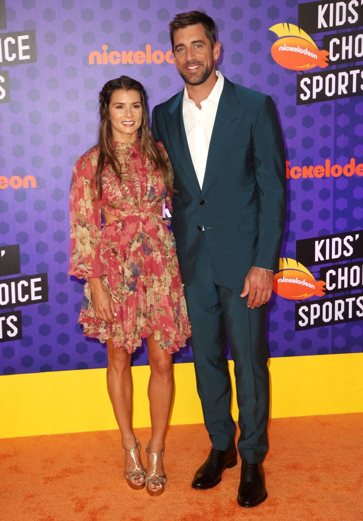 Danica Patrick and Aaron Rodgers Kids' Choice Sports Awards