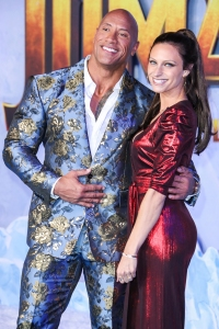 The Rock And Wife Lauren Attend Premiere After His Candid