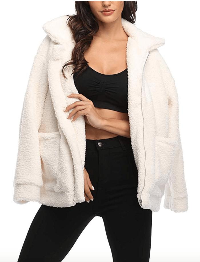 Chaqueta EZIGO Fuzzy Fleece Sherpa para mujer