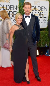 Elsa Pataky and Chris Hemsworth Baby Bumps at the Golden Globes