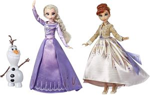 Frozen Disney Elsa, Anna, & Olaf Deluxe Fashion Doll Set (Amazon Exclusive)