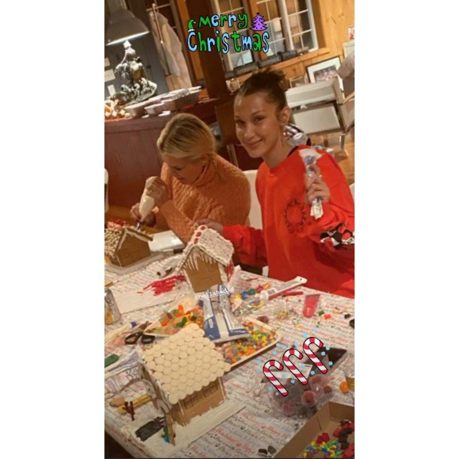 Gigi, Bella and Yolanda Hadid Make Gingerbread Houses Together on Christmas