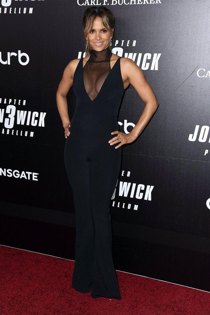 Halle Berry Red Carpet John Wick 3 Wearing Cushnie
