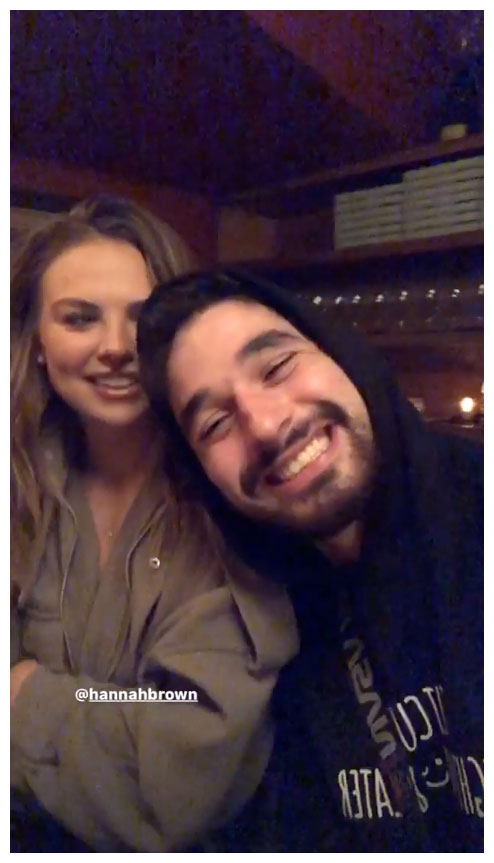 Hannah Brown and Alan Bersten Dancing With The Stars Instagram Story