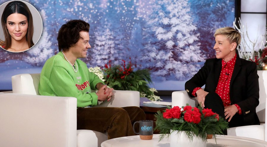Harry Styles Clams Up When Ellen DeGeneres Asks About His Friendship With Ex Kendall Jenner-new