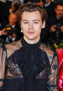 Harry Styles Sports Yellow Manicure