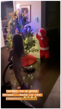 Hilaria Baldwin and Alec Baldwin Celebrity Kids Helping Pick and Decorate Christmas Trees