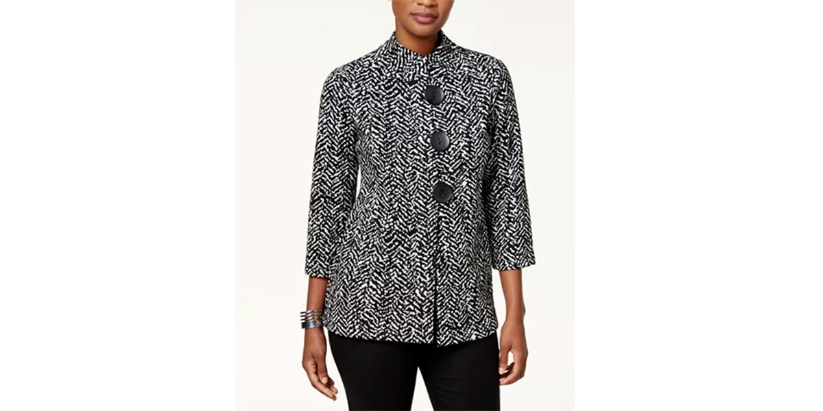 JM Collection Printed Three-Button Jacket, Created for Macy's