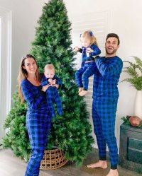 Jade Roper and Tanner Tolbert Decorate Christmas Tree in Matching Pajamas