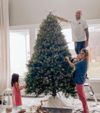 Jana Kramer and Mike Caussin Celebrities Picking and Decorating Christmas Trees With Their Kids