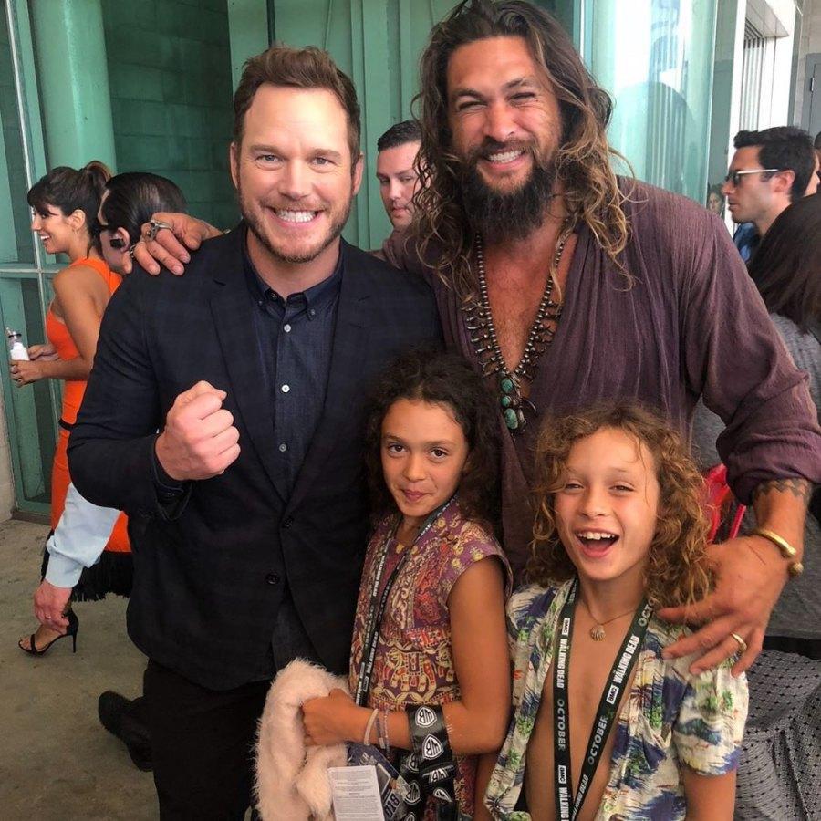 Jason Momoa's Quotes About Kids Olive Branch Chris Pratt