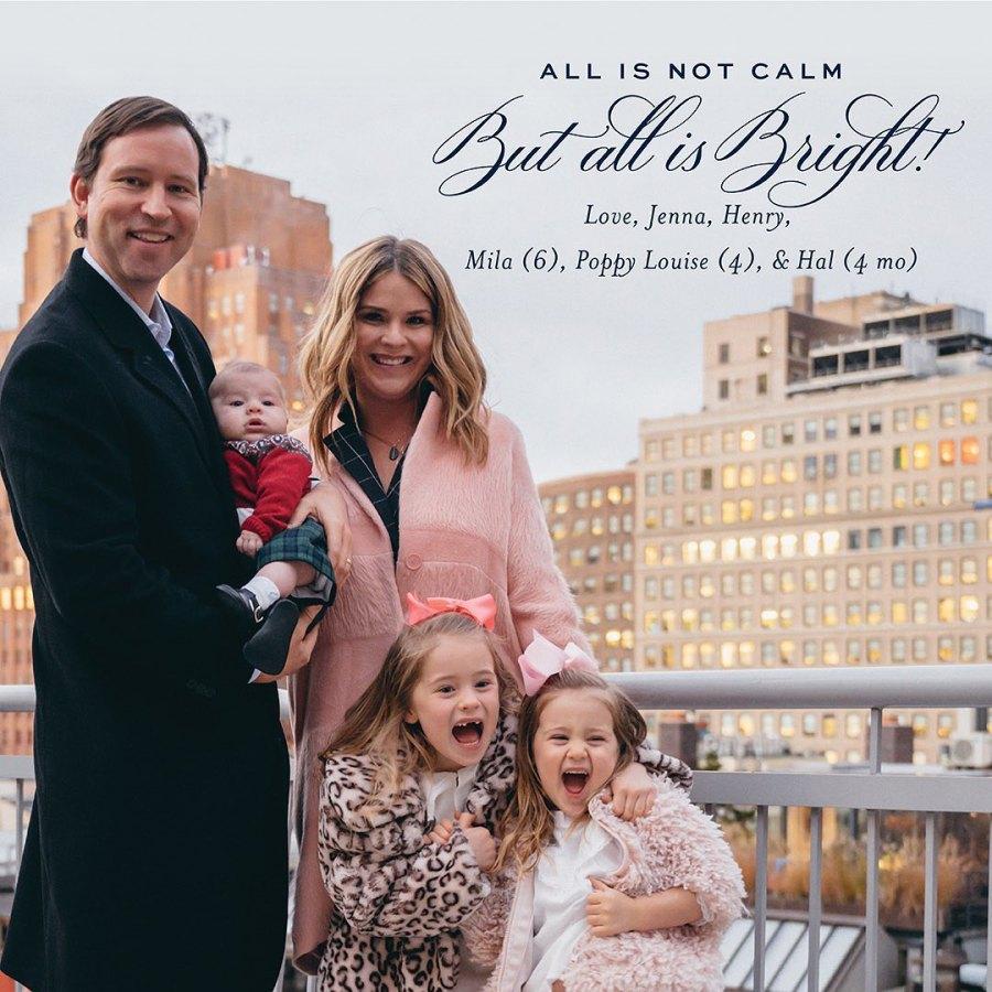 Celeb Holiday Cards Jenna Bush Hager