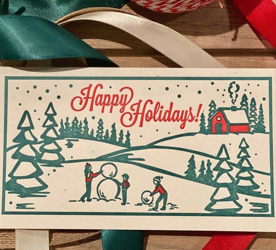 Jennifer Garner Christmas card
