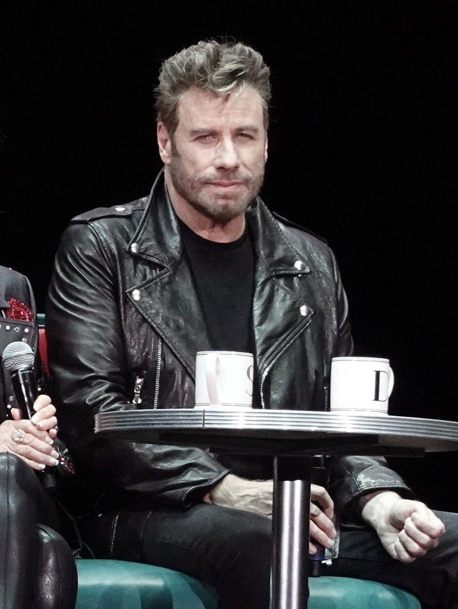 John Travolta and Olivia Newton-John Reprise 'Grease' Roles in Full-On Costumes