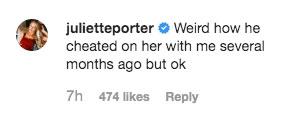 Juliette Porter Comment
