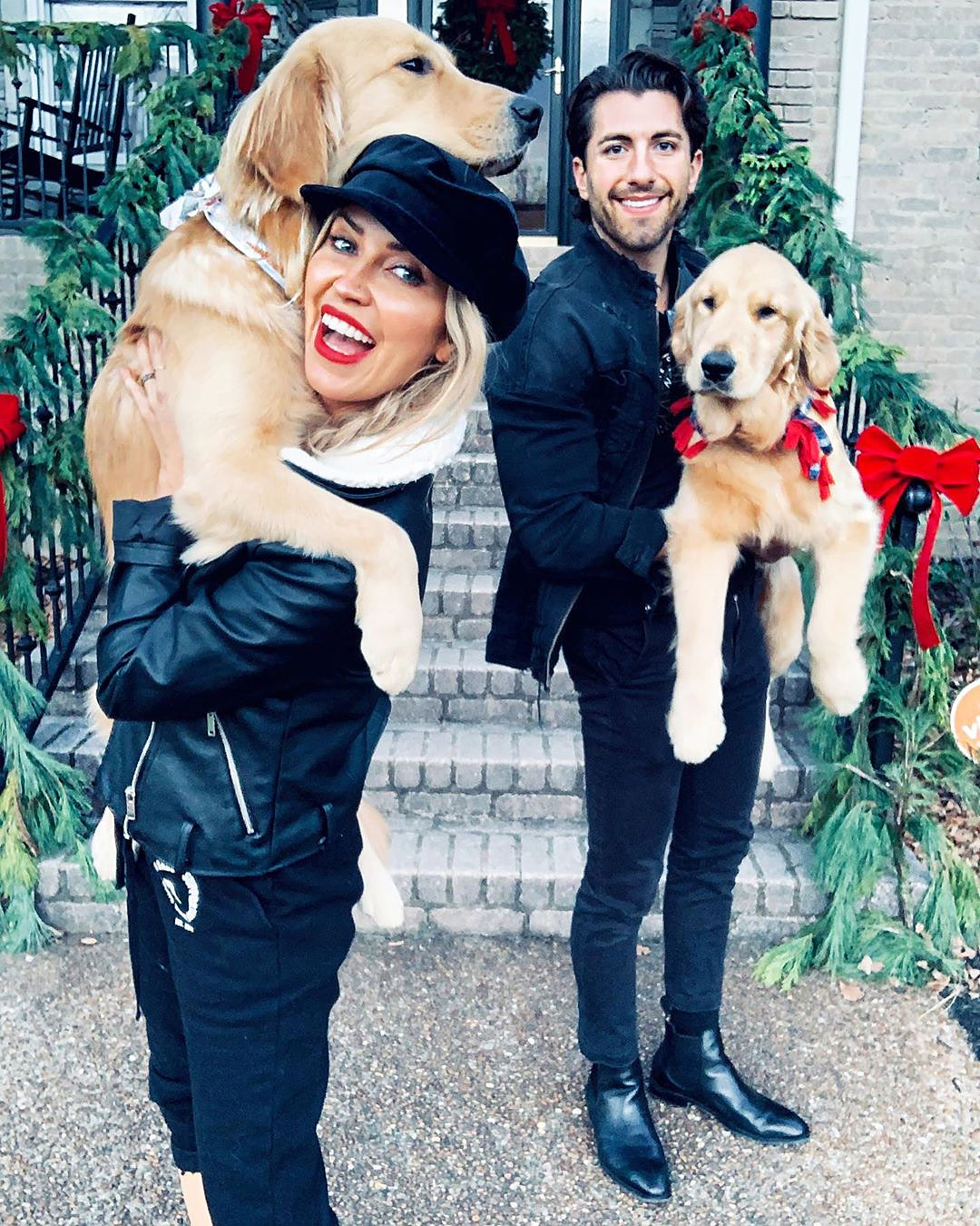 Kaitlyn Bristowe and Jason Tartick with Dogs Ramen and Pinot