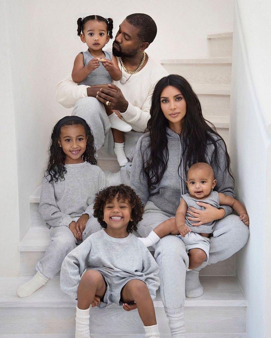 Kardashain West Family Christmas Card 2019
