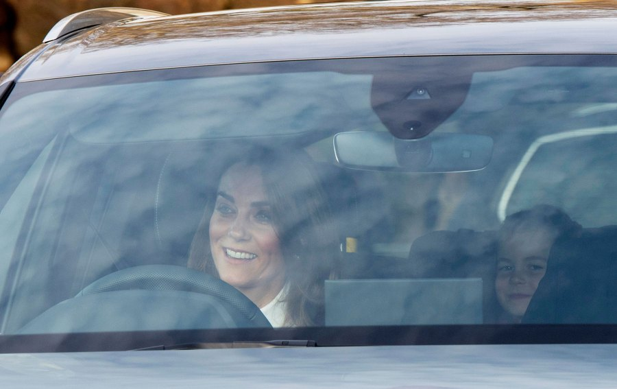 Royal Family Arrives at Queen Elizabeth's Annual Christmas Lunch