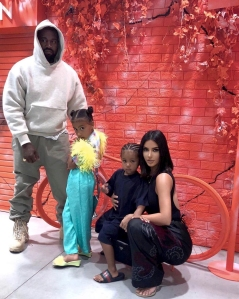 Kim Kardashian, Kanye West's Daughter North Appears to Be Wearing Makeup After Ban in Christmas Eve Photos