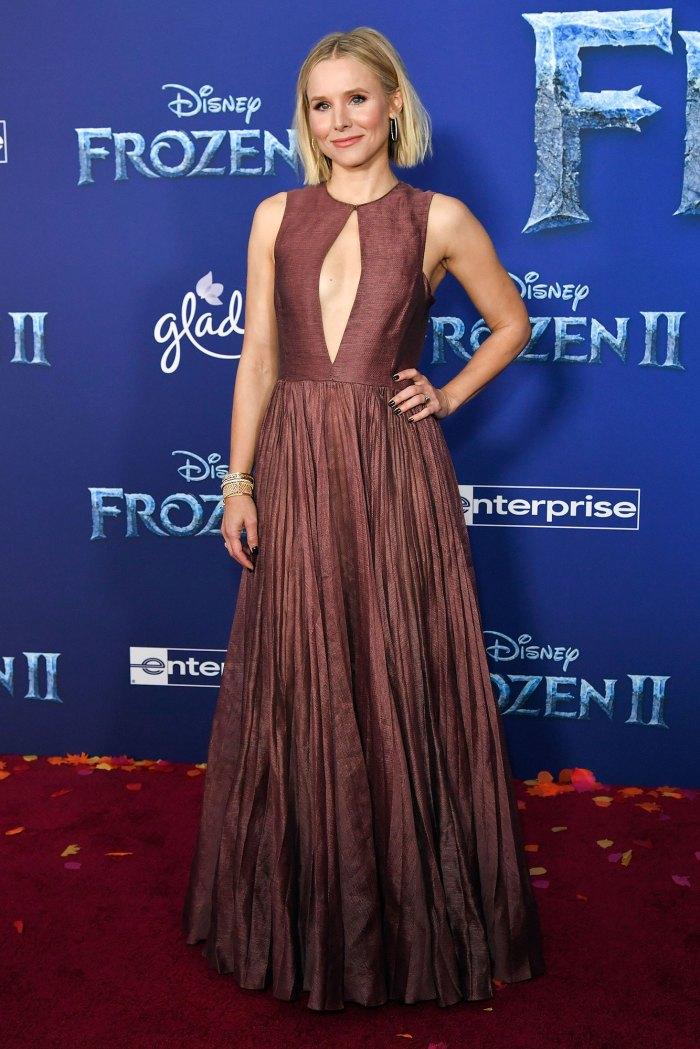 Kristen Bell 'Frozen II' Premiere Wearing Dior Jacks Up Daughter's Bed