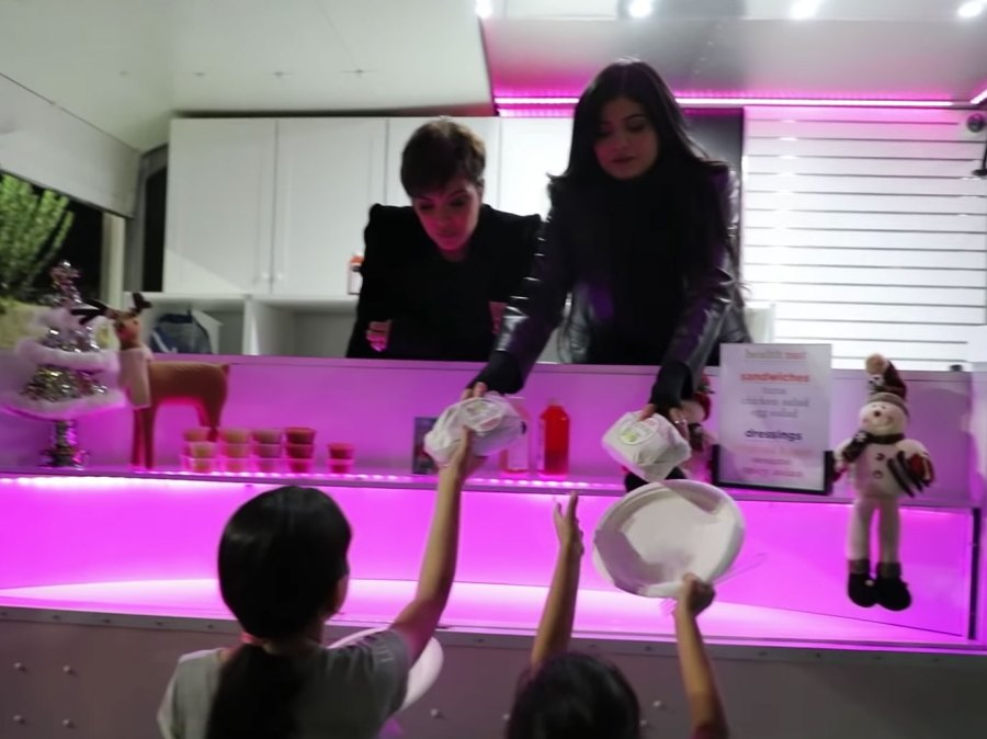 Kylie Jenner Hands Out Food