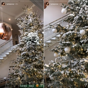 Kylie Jenner Went All Out With Holiday Decor