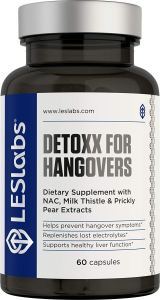 LES Labs DeToxx for Hangovers Natural Supplement
