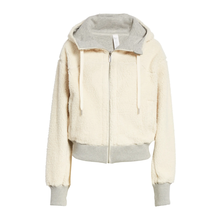 Marc New York Performance Reversible Faux Shearling Sudadera con capucha de mujer