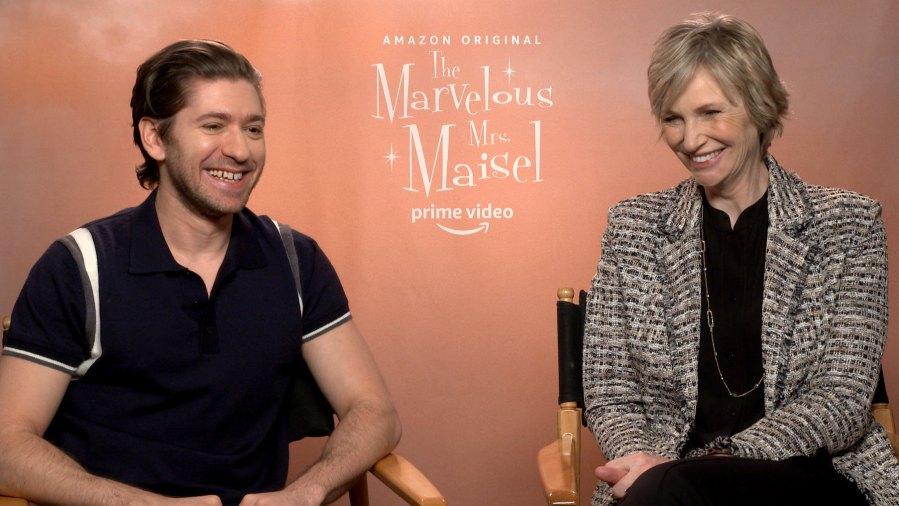 Michael Zegen and Jane Lynch Marvelous Mrs. Maisel Cast Us Interview