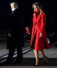 Melania Trump Red Coat December 2, 2019