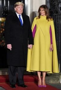 Melania Trump Yellow Cape December 3, 2019