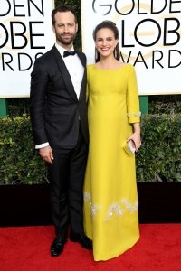 Benjamin Millepied and Natalie Portman Baby Bumps at the Golden Globes