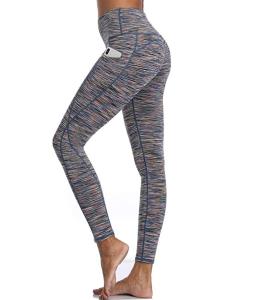 Oalka Women Power Flex Yoga Pants Workout (Out Side Pockets Multicolor)