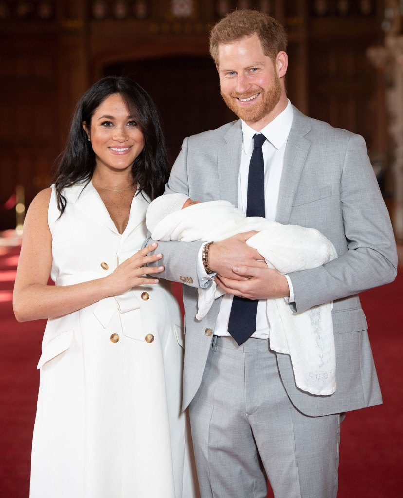 Prince Harry and Meghan Duchess of Sussex and Archie Christmas Card