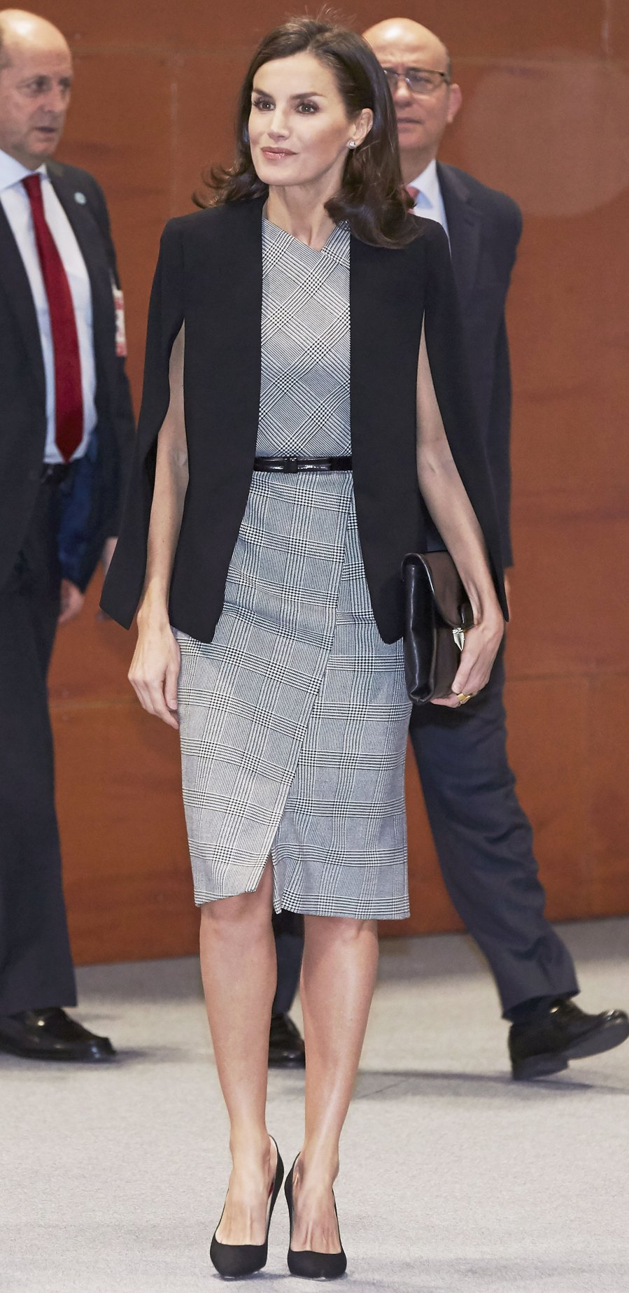Queen Letizia Plaid Dress December 11, 2019