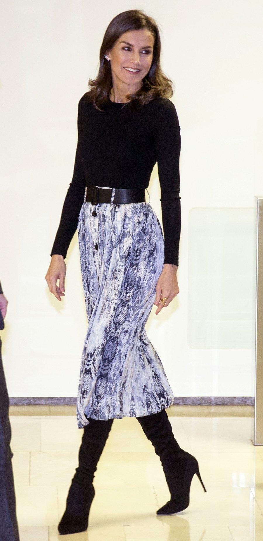 Queen Letizia Statement Skirt December 12, 2019